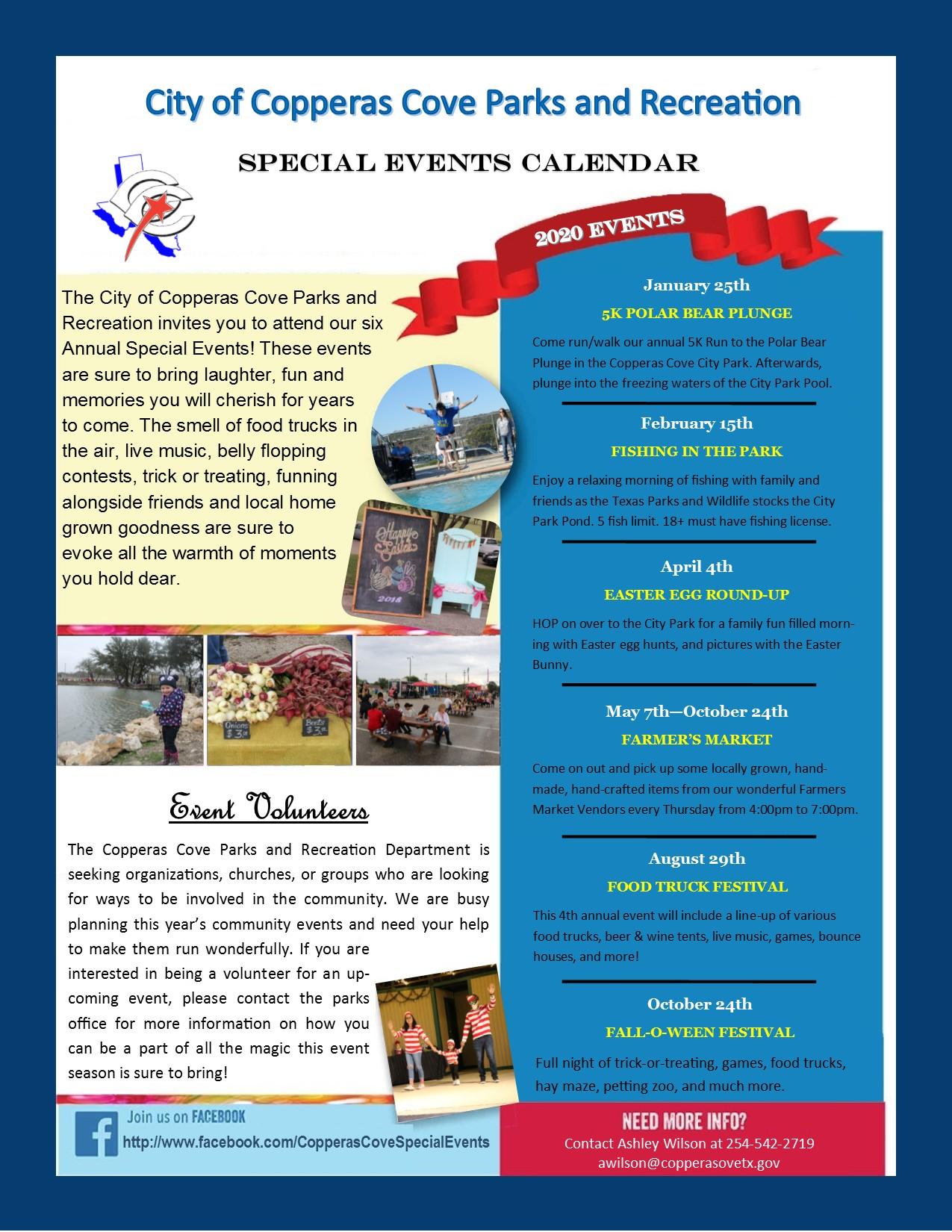 2020 Events Calendar