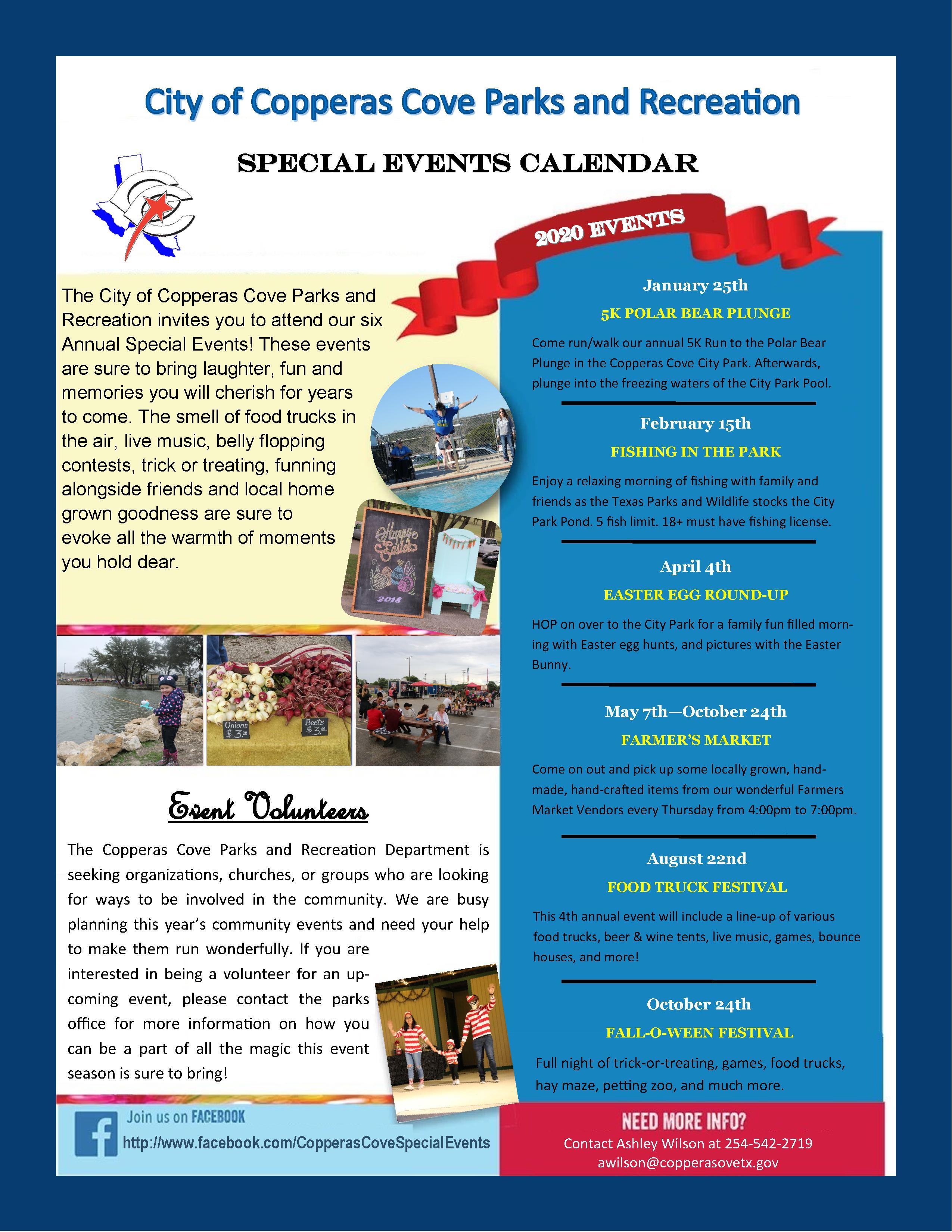 2020P&REvents Calendar
