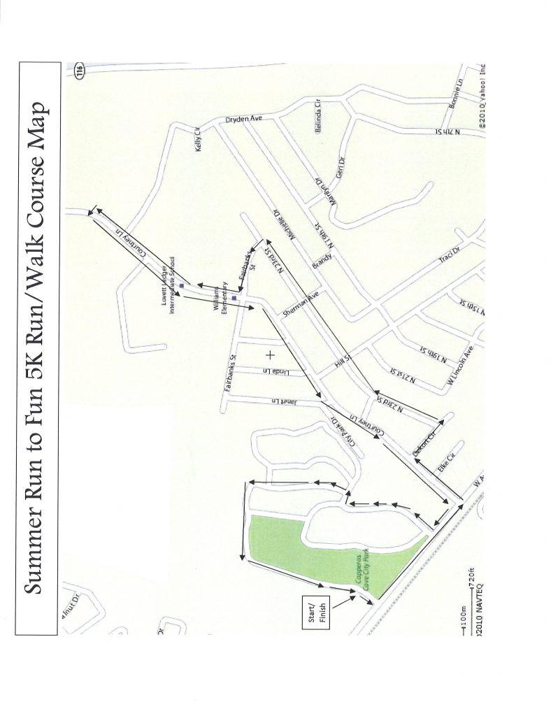 Summer Run to Fun City Park Map