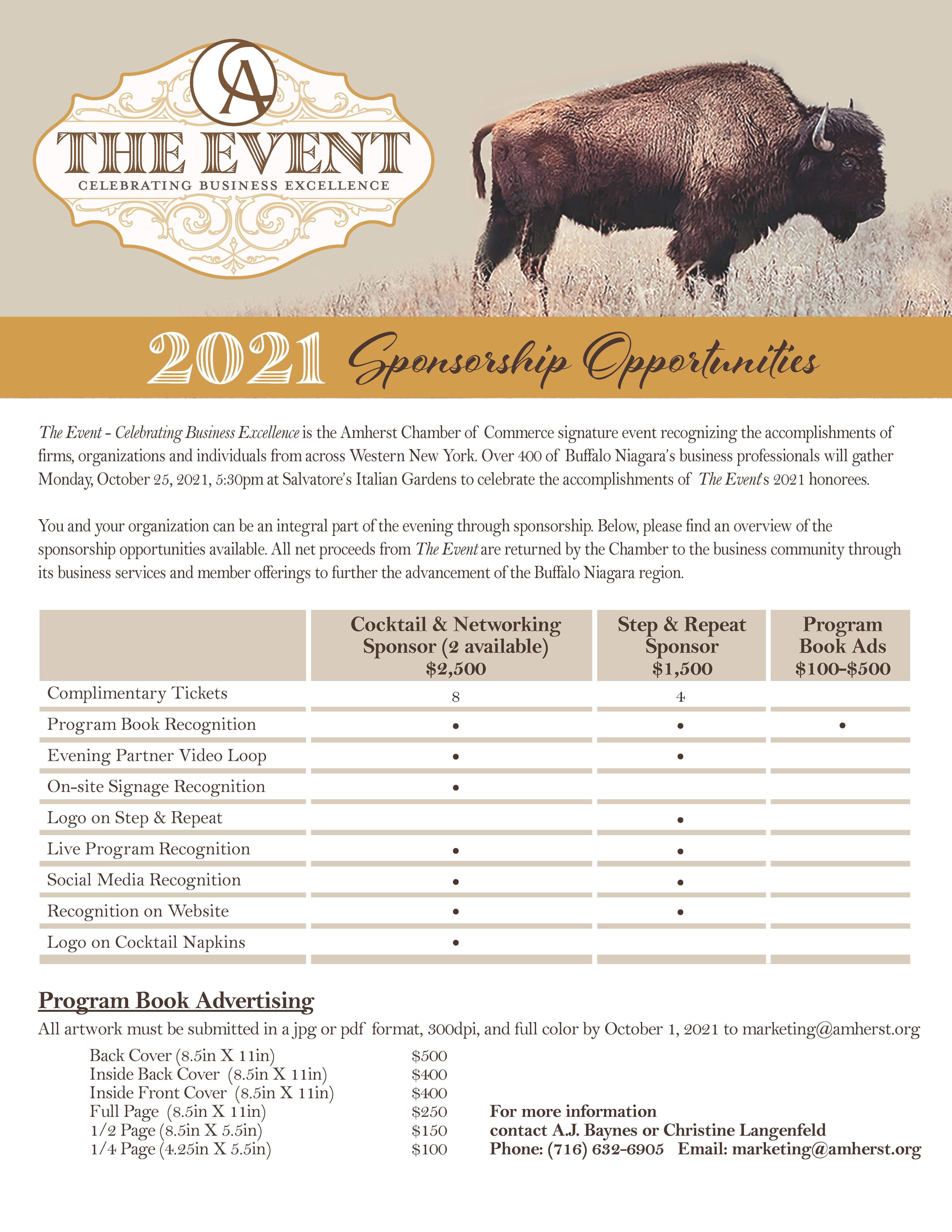 The Event 2021 Sponsorship Opportunities
