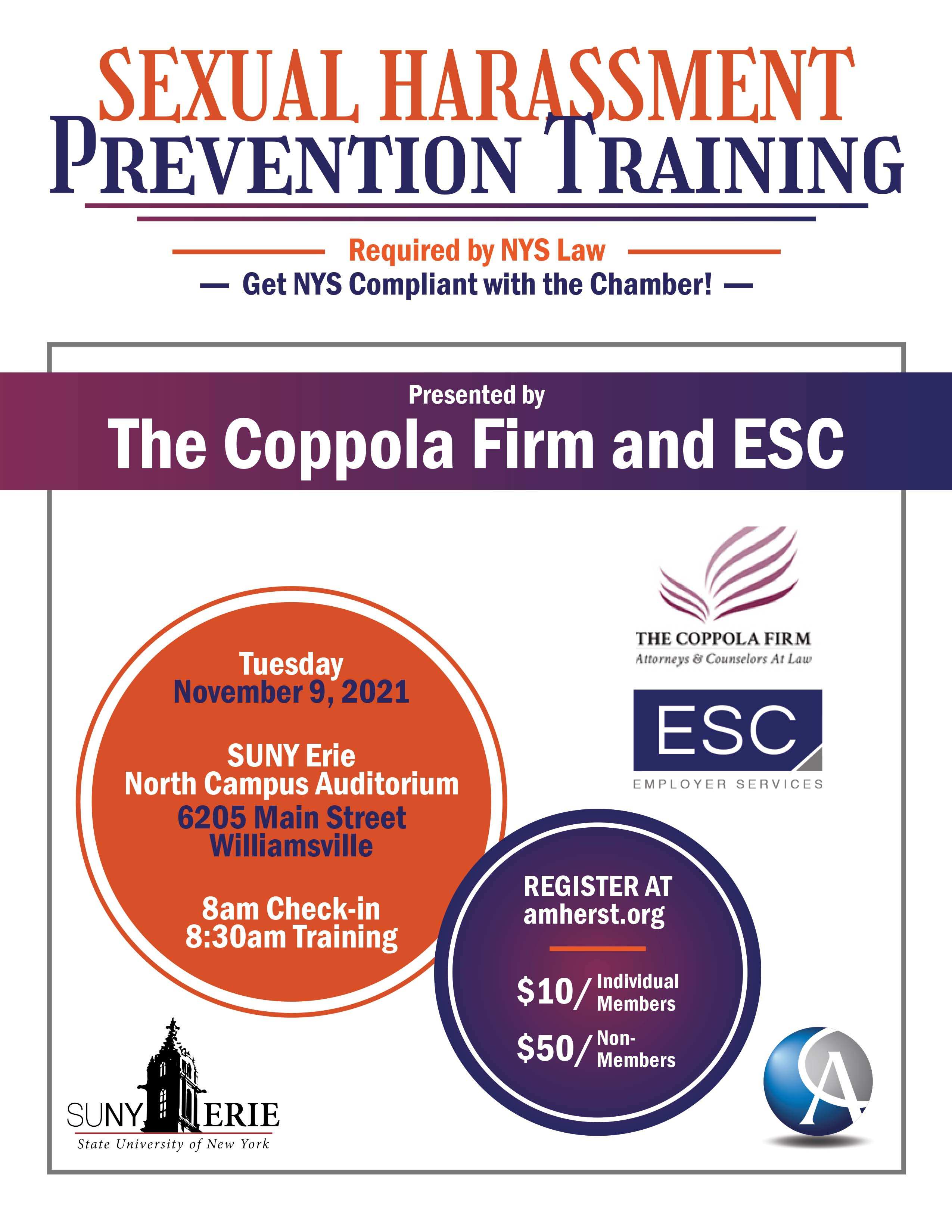 Sexual Harassment Training Flyer