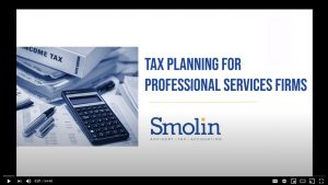 Tax Planning for Professional Services Firms