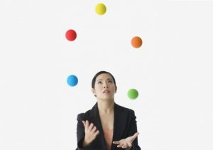 Owning a business is a juggling act