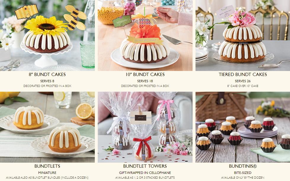 Nothing Bundt Cakes Offerings