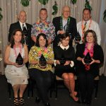 Eight award winners at the CCEDC Hawaiian Luau Awards Gala