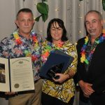 Three award winners from Joey B's at the CCEDC Hawaiian Luau Awards Gala