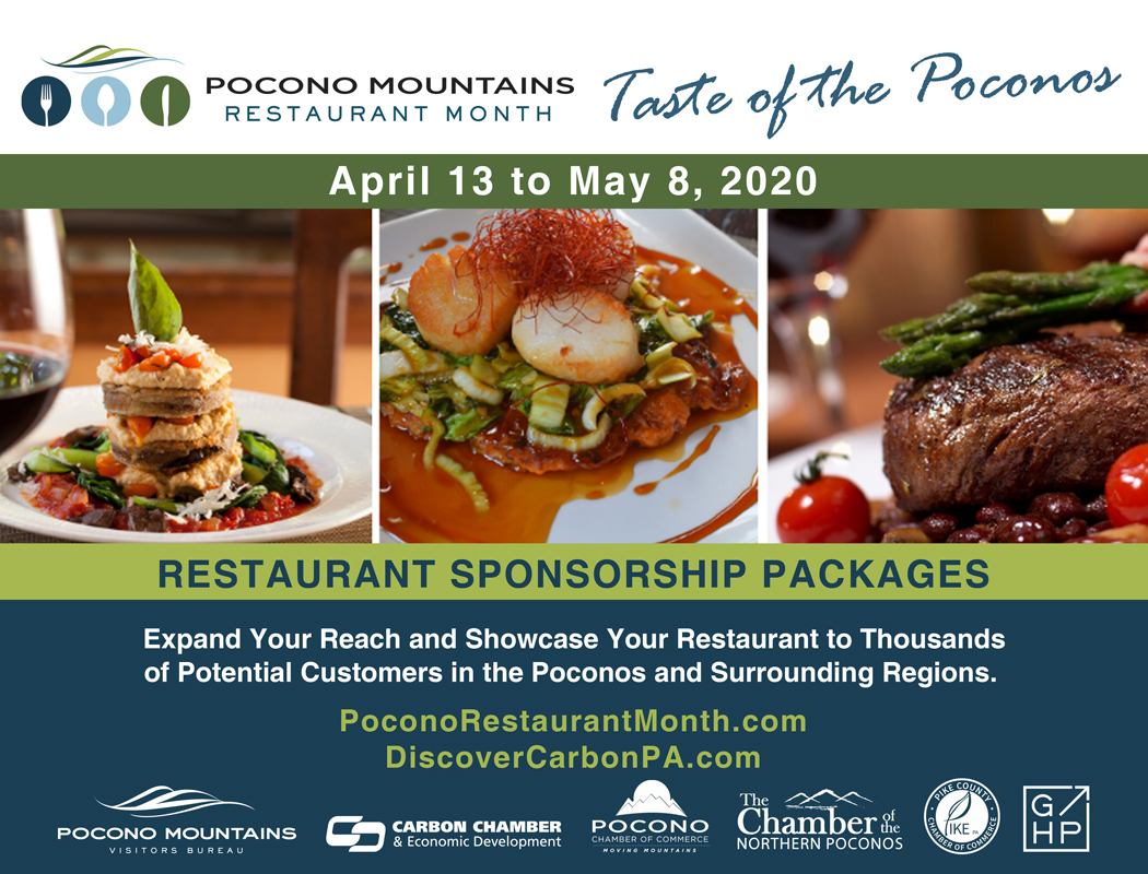 Pocono Mountains Restaurant Month Packet Cover
