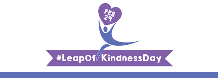 Leap of Kindness Day webpage header
