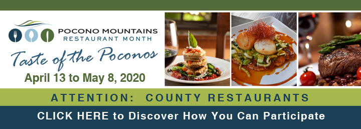 Participate in Pocono Mountains Restaurant Month banner