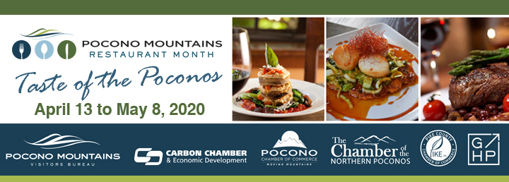 Pocono Mountains Restaurant Month-Taste of the Poconos banner