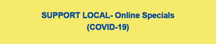 Support Local- Online Specials web page header