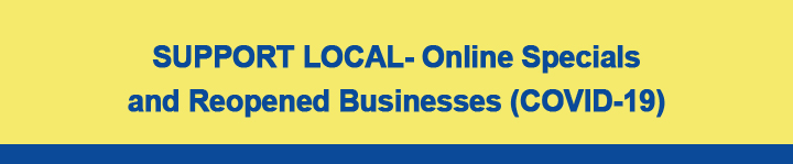 Support Local- Online Specials and Reopened Businesses in Carbon County PA (COVID-19)