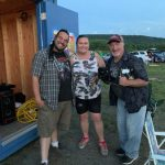 Virgil, Alice and Dave at Mahoning Drive-In Theatre
