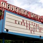 Mahoning Drive-In marquee sign