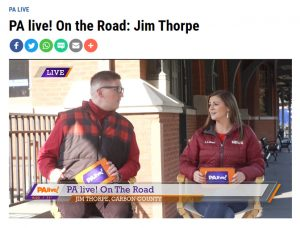 WBRE PA Live! Hosts in Jim Thorpe