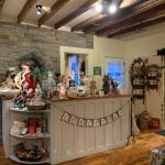 Store counter at Jingle Bells during Deck the Halls sip and shop