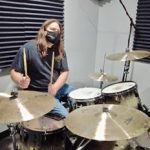Dustin playing drums