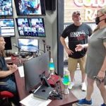 Dustin, Doc and Alice talking in Colossal Radio