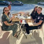 Leadership Carbon Class of 2021 graduates dining outside