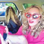 Two ladies in car
