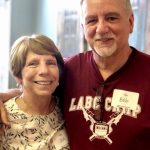 Couple at Wine on More on 1st ribbon cutting