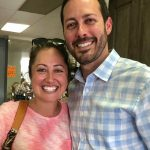 Jessica O'Donnell and husband at Wine & More on 1st ribbon cutting