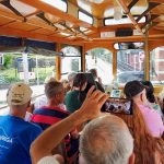 Guests riding Jim Thorpe trolley