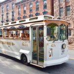 White Jim Thorpe Trolley
