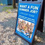 Want a fun summer job sign
