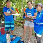 Three Pocono Whitewater staff members