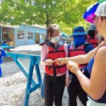 Pocono Whitewater guests with life jackets