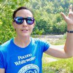 Sierra Fogal waving