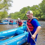 man behind raft