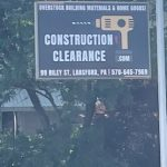 construction clearance exterior sign