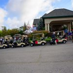 golf carts outside