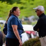 Alice Wanamaker talking to Tony Iannelli