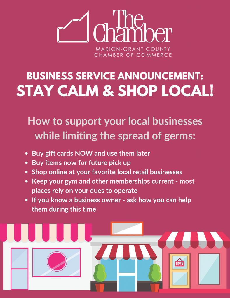 Stay calm & Shop local