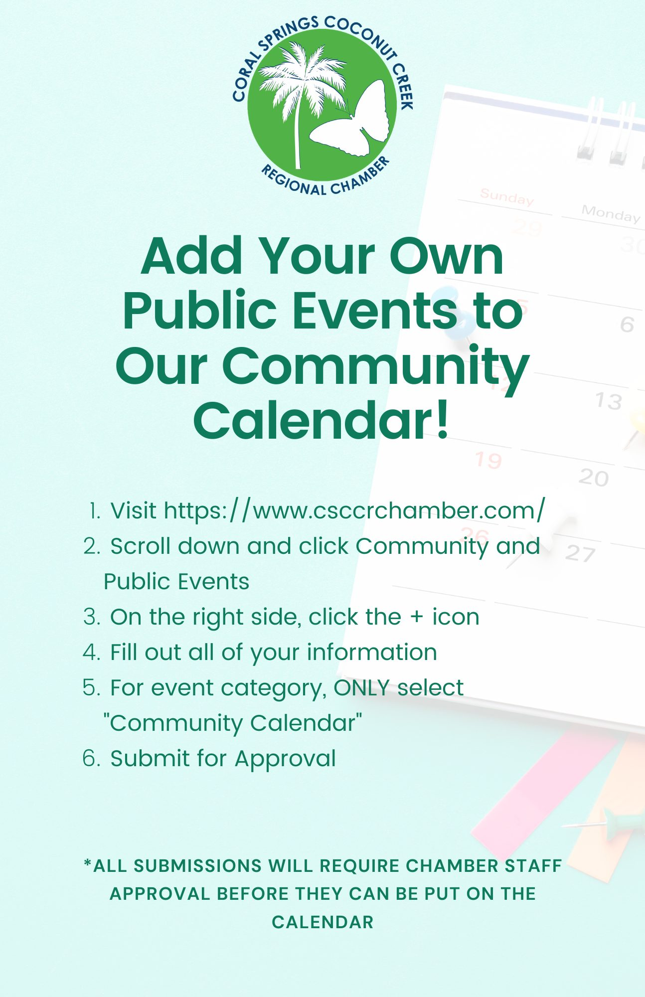 Add Your Own Public Events to Our Community Calendar!