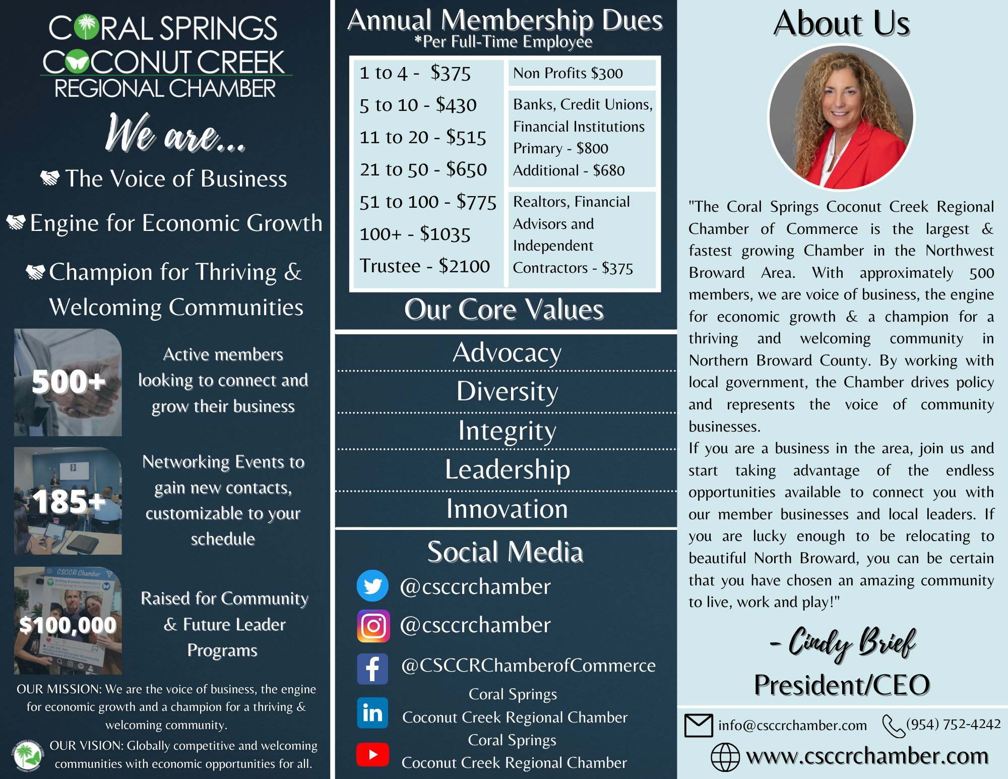 one page brochure with pricing call 8547524242 for different version