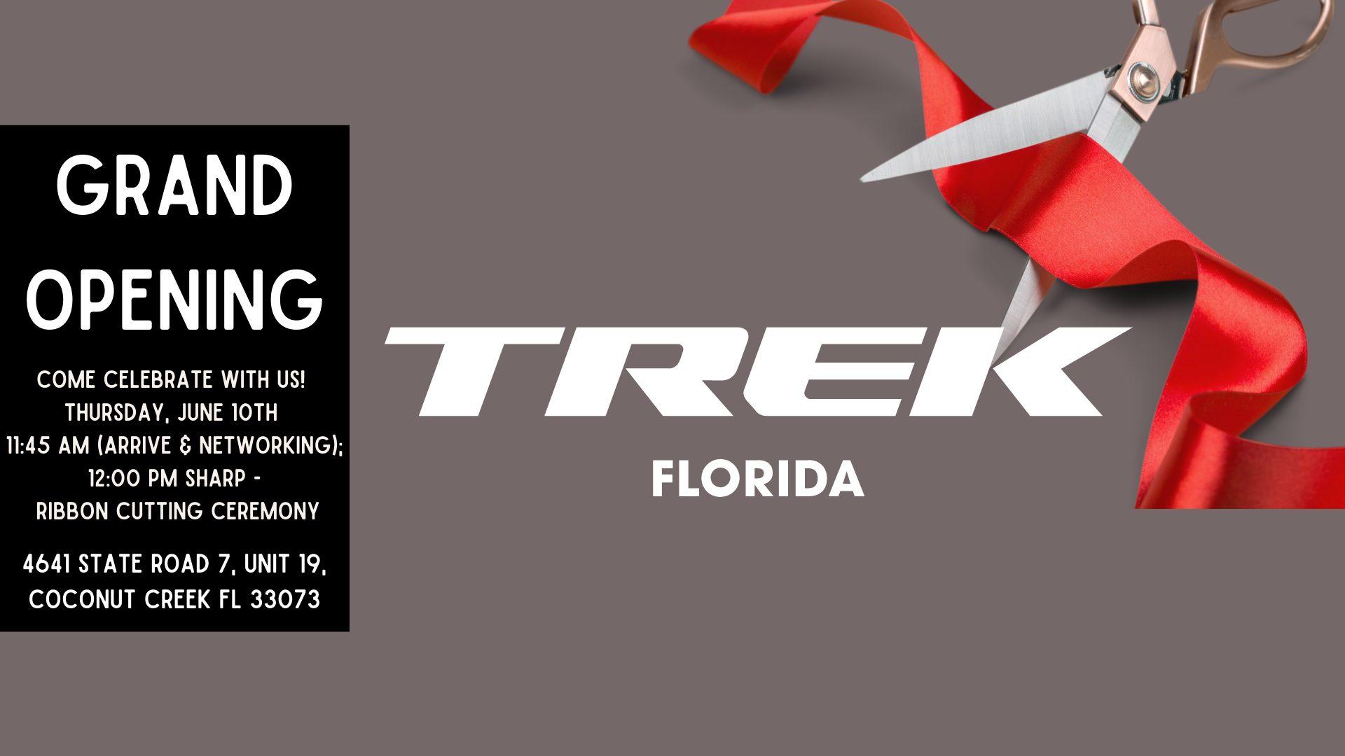 trek bicycle ribbon cutting