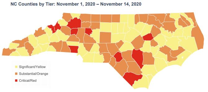 NC COVID19 Alert System Map