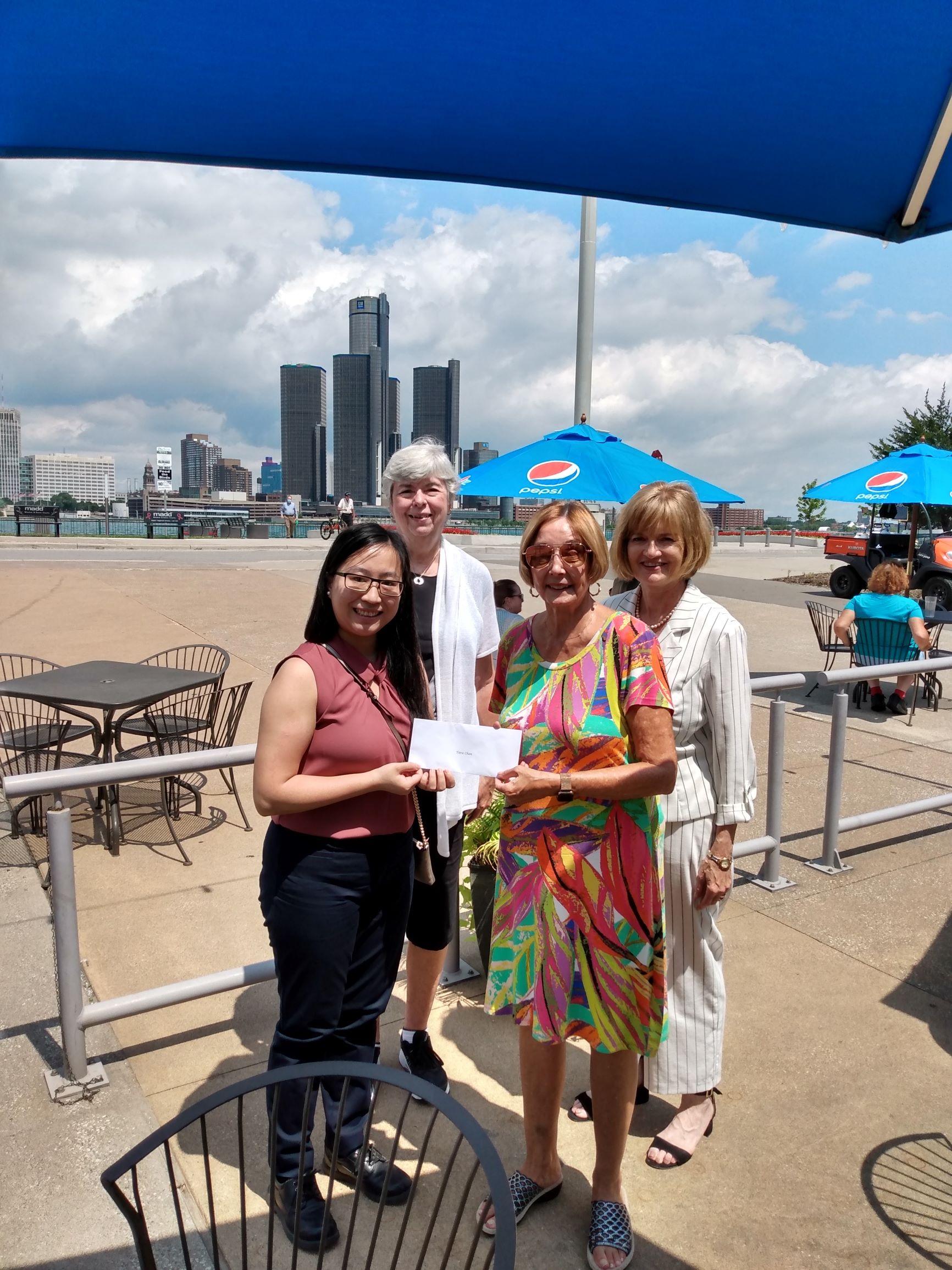 Tara Chan (Faculty of Law, University of Windsor Recipient), Sue Zanin (Past Chair, ATHENA Committee), Loretta Stoyka (Founder, ATHENA Scholarship Fund (Windsor), Lee Anne Doyle (Chair, ATHENA Committee)