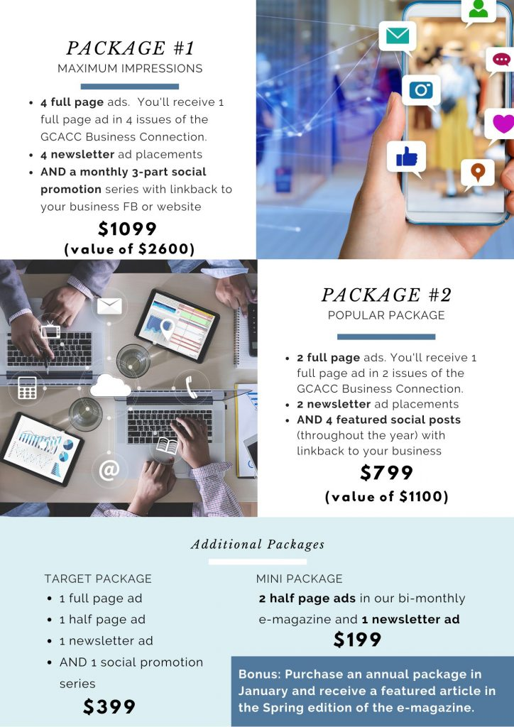 GC Chamber 2021 Annual Ad Packages Sale