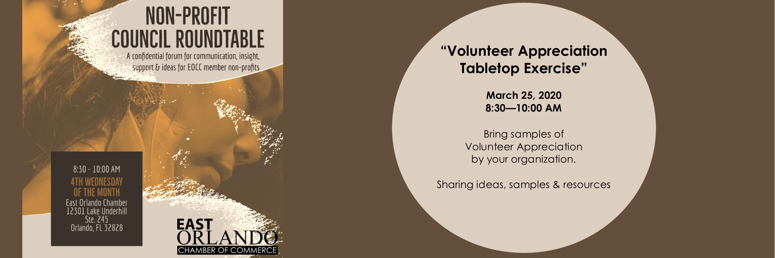Non-Profit Roundtable - Volunteer Appreciation