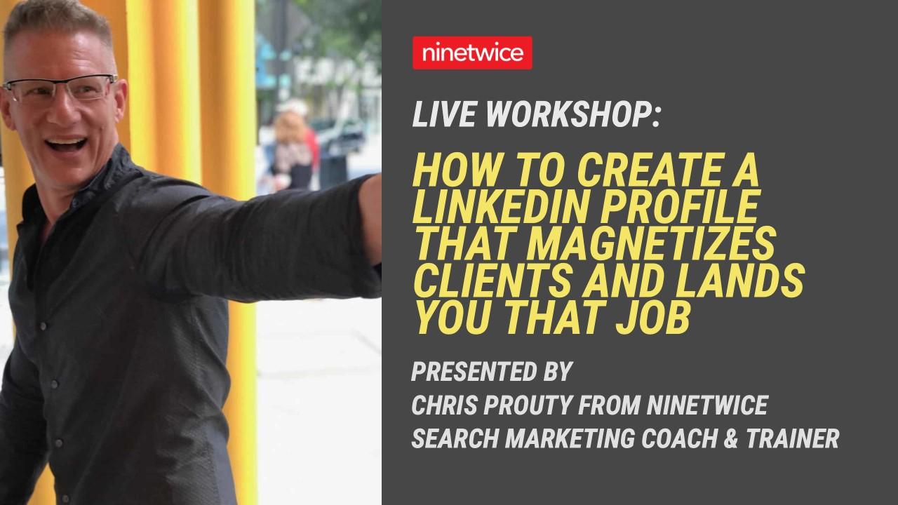 Chris Prouty - LinkedIn presentation