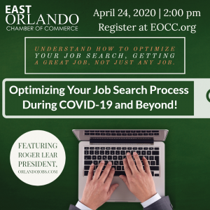 Optimizing Your Job Search Process During COVID-19 and Beyond! Ad