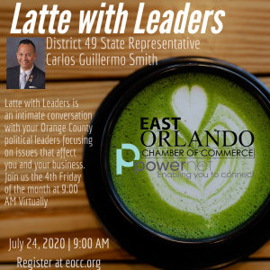 Latte with Leaders FL Representative Carlos Guillermo Smith