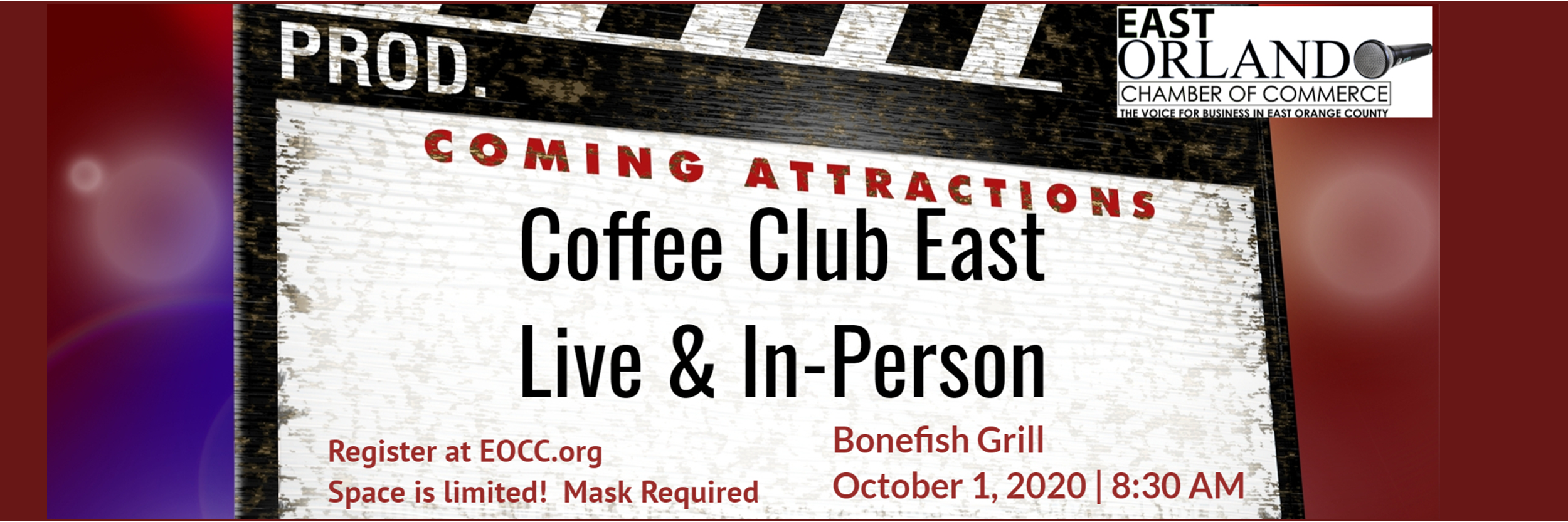 Coffee Club East Live & in person