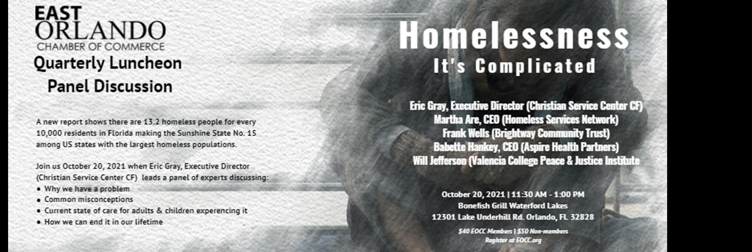 October Chamber Luncheon Homelessness