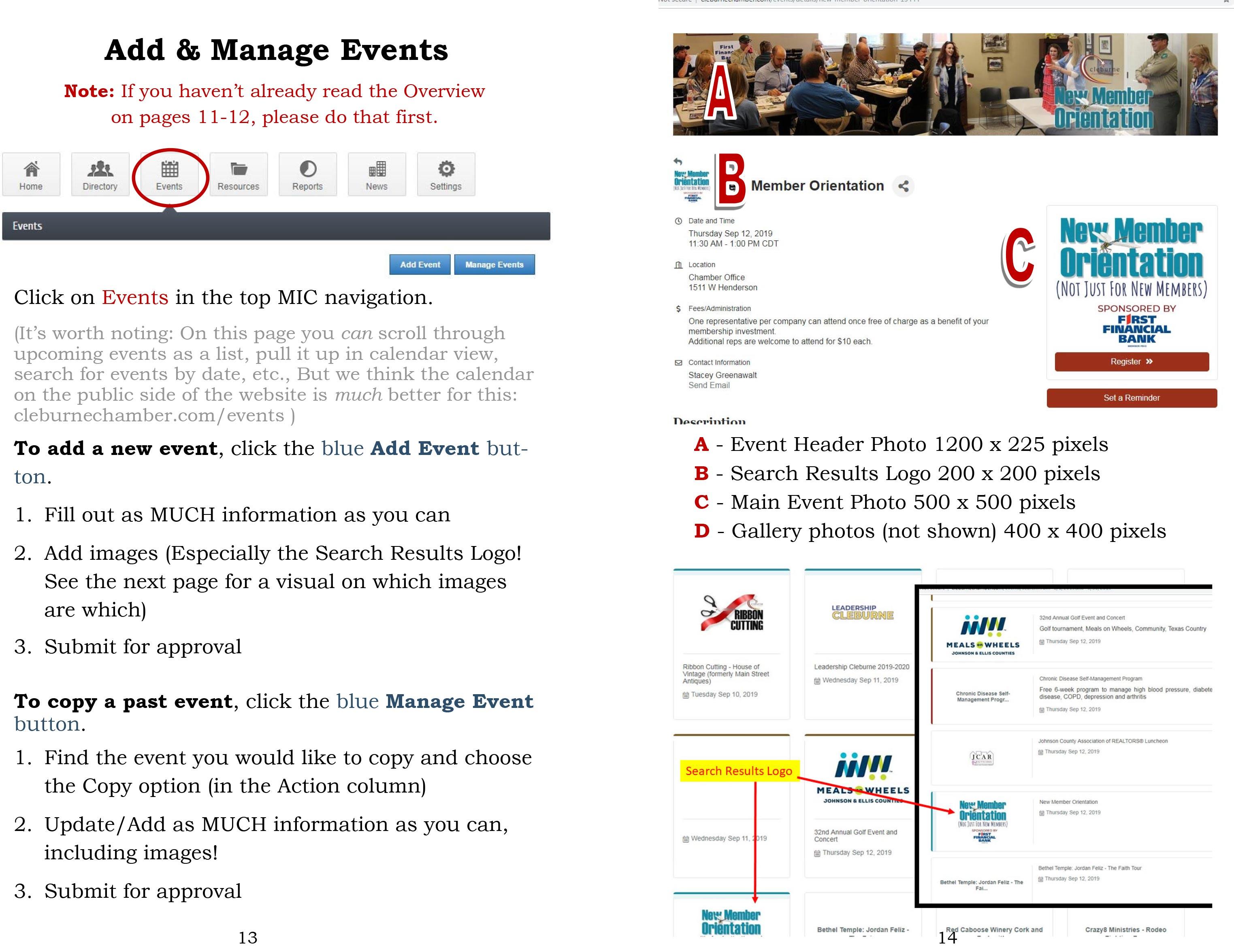 Adding Events